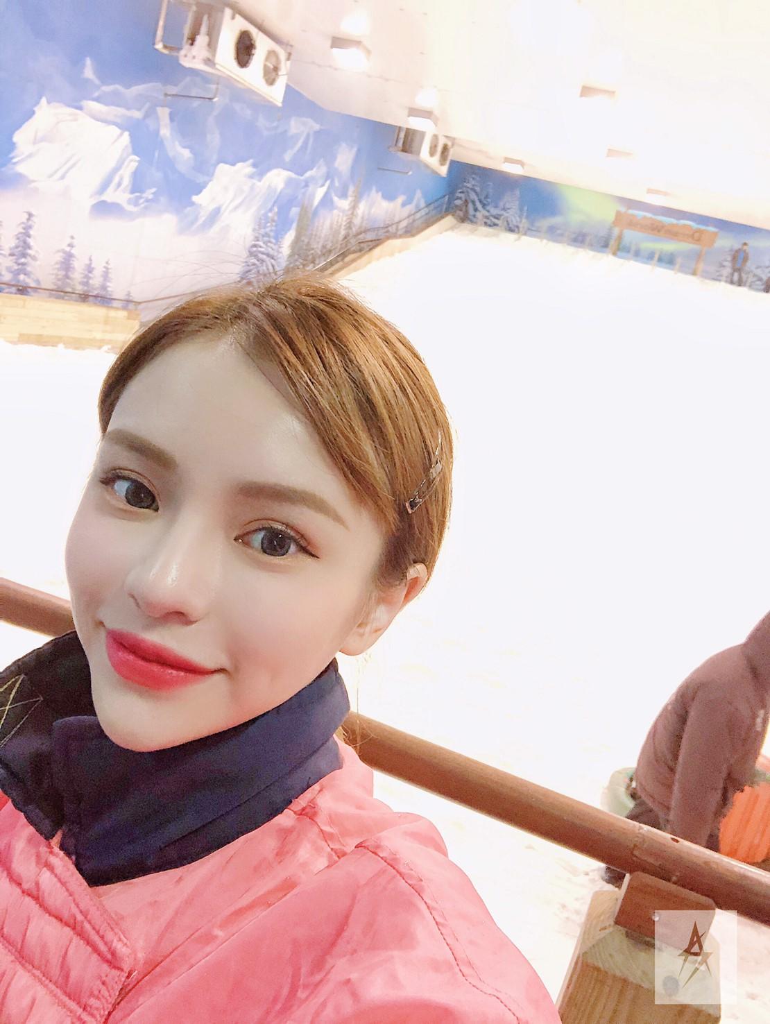 ▲曼谷夢幻世界樂園裡的滑雪場,讓陳斯亞印象非常深刻。