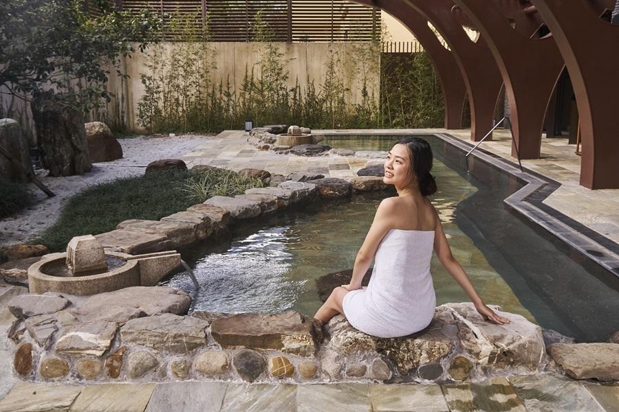 戶外風呂區視野遼闊。圖片提供/宜蘭力麗威斯汀度假酒店
