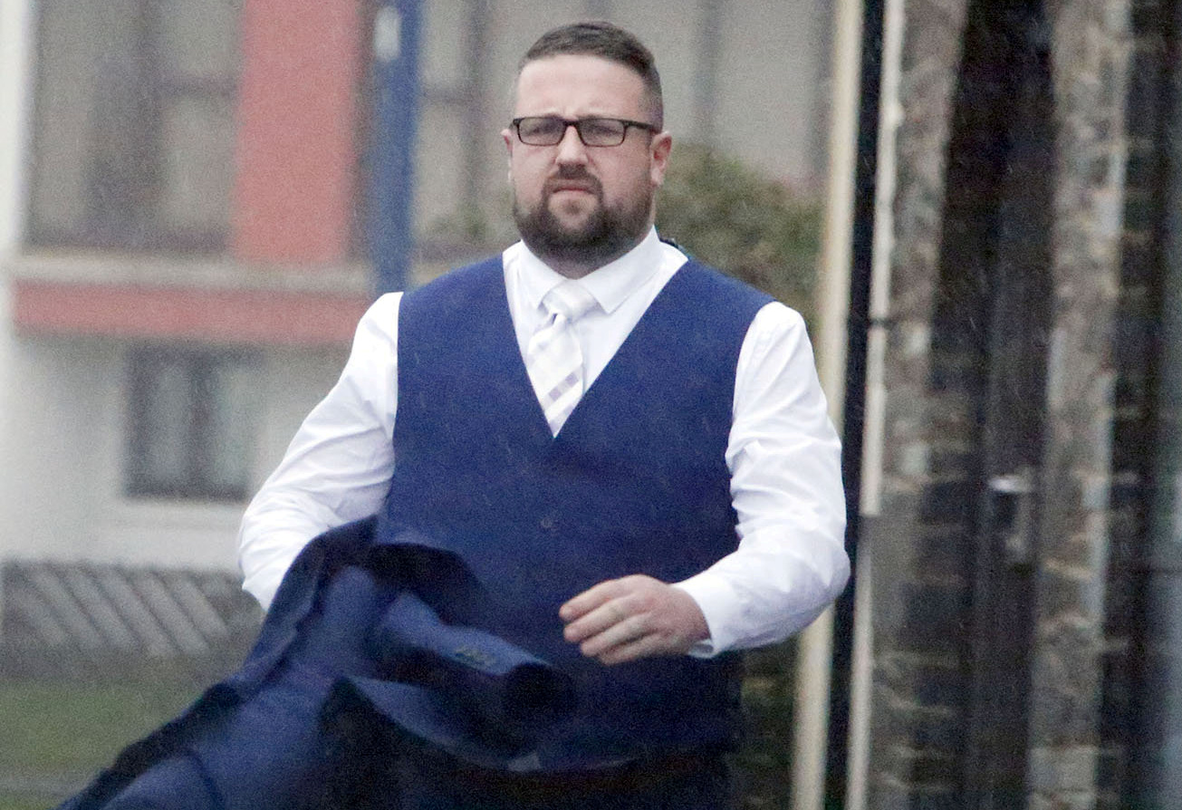 Tomos Rhydian Wilson punched his brother's wife at their wedding (Picture: SWNS)