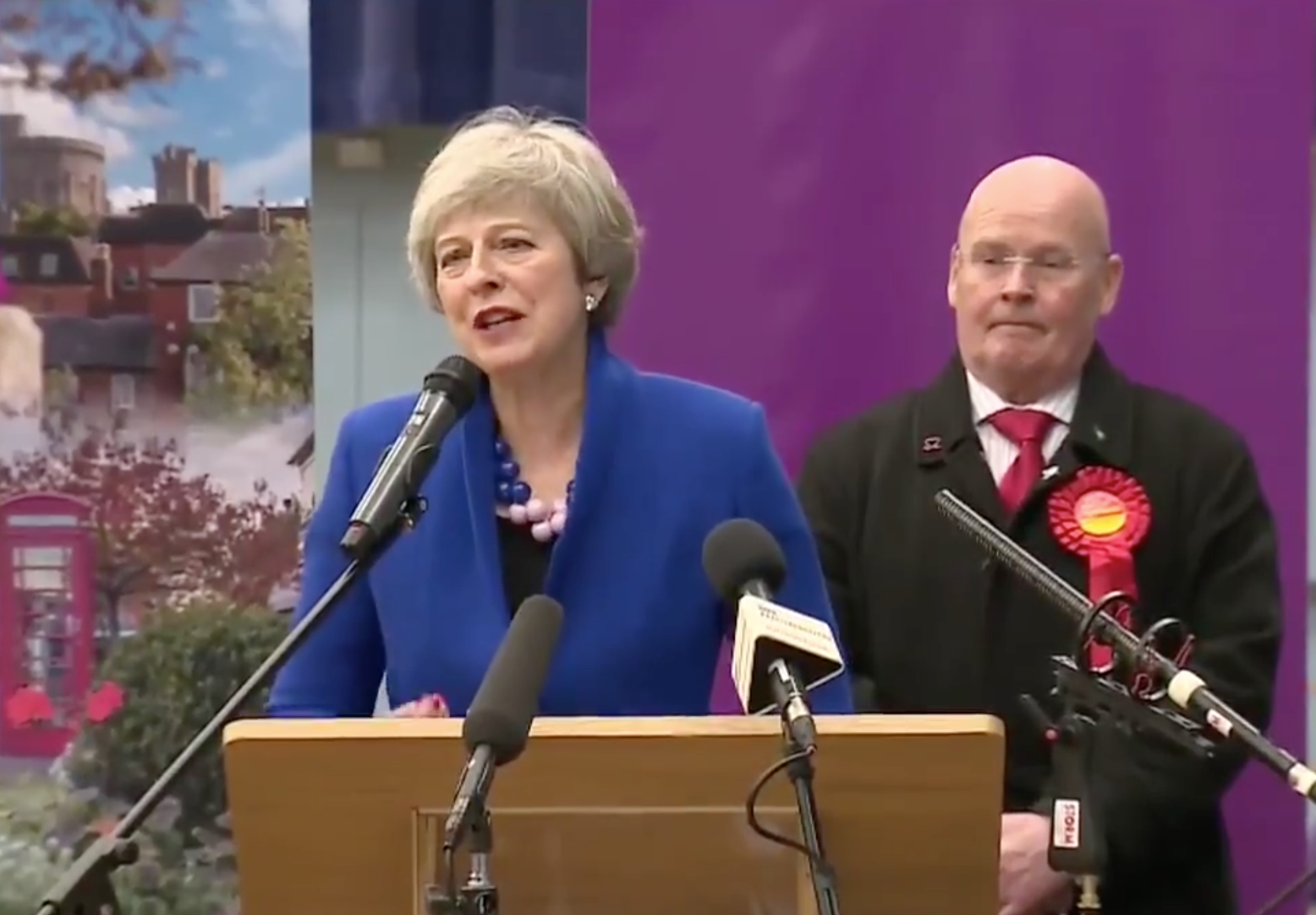 Theresa May thanked her constituents, polling staff, her husband and even police during her victory speech - but not Boris Johnson