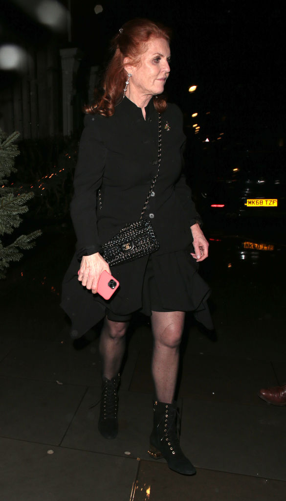 Sarah, Duchess of York seen attending Princess Beatrice's engagement party at Chiltern Firehouse on 18 December 2019 in London. [Photo: Getty]