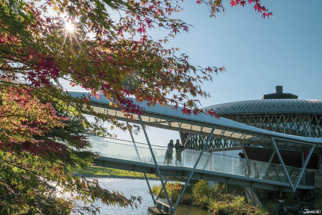 輕井澤購物廣場中的好風景。