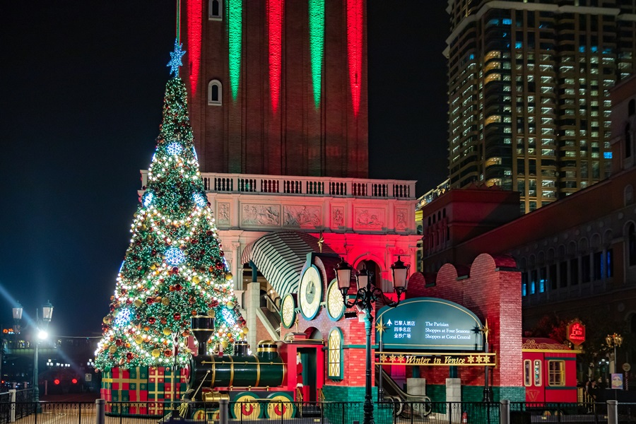 巨型聖誕樹。圖片提供/澳門金沙度假區