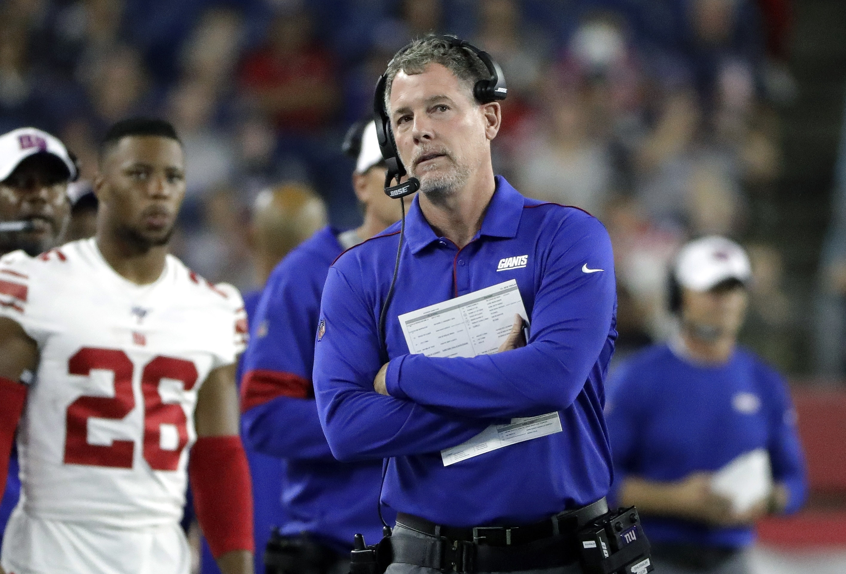 The New York Giants fired head coach Pat Shurmur after two seasons. (AP/Steven Senne)