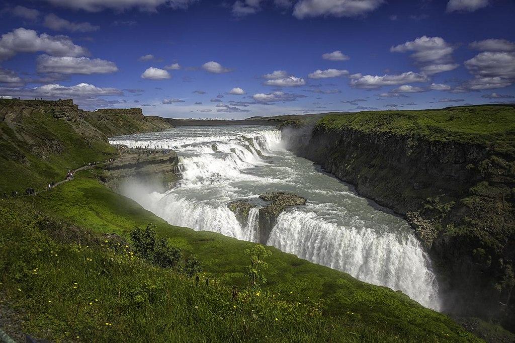 古佛斯瀑布 (Photo by Ævar Guðmundsson from Kópavogur, Iceland, License: CC BY 2.0, 圖片來源www.flickr.com/photos/aevar/28112896111)
