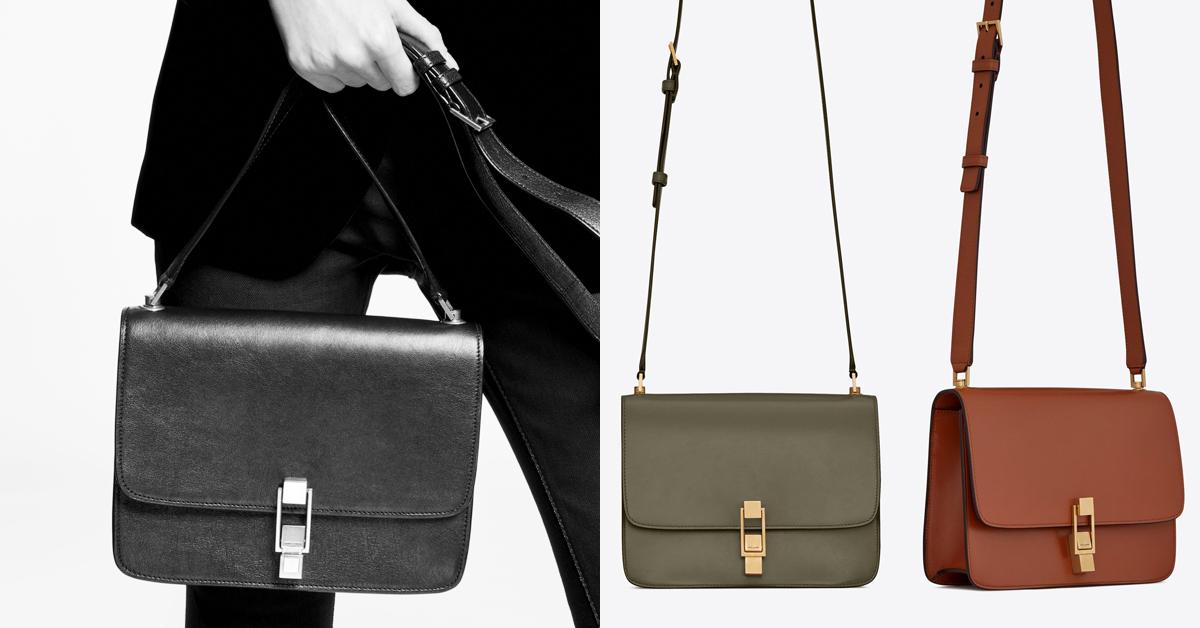 這一創作靈感源自巴黎左岸的「Carre」系列包款,造型簡約、方正的素色皮革包型