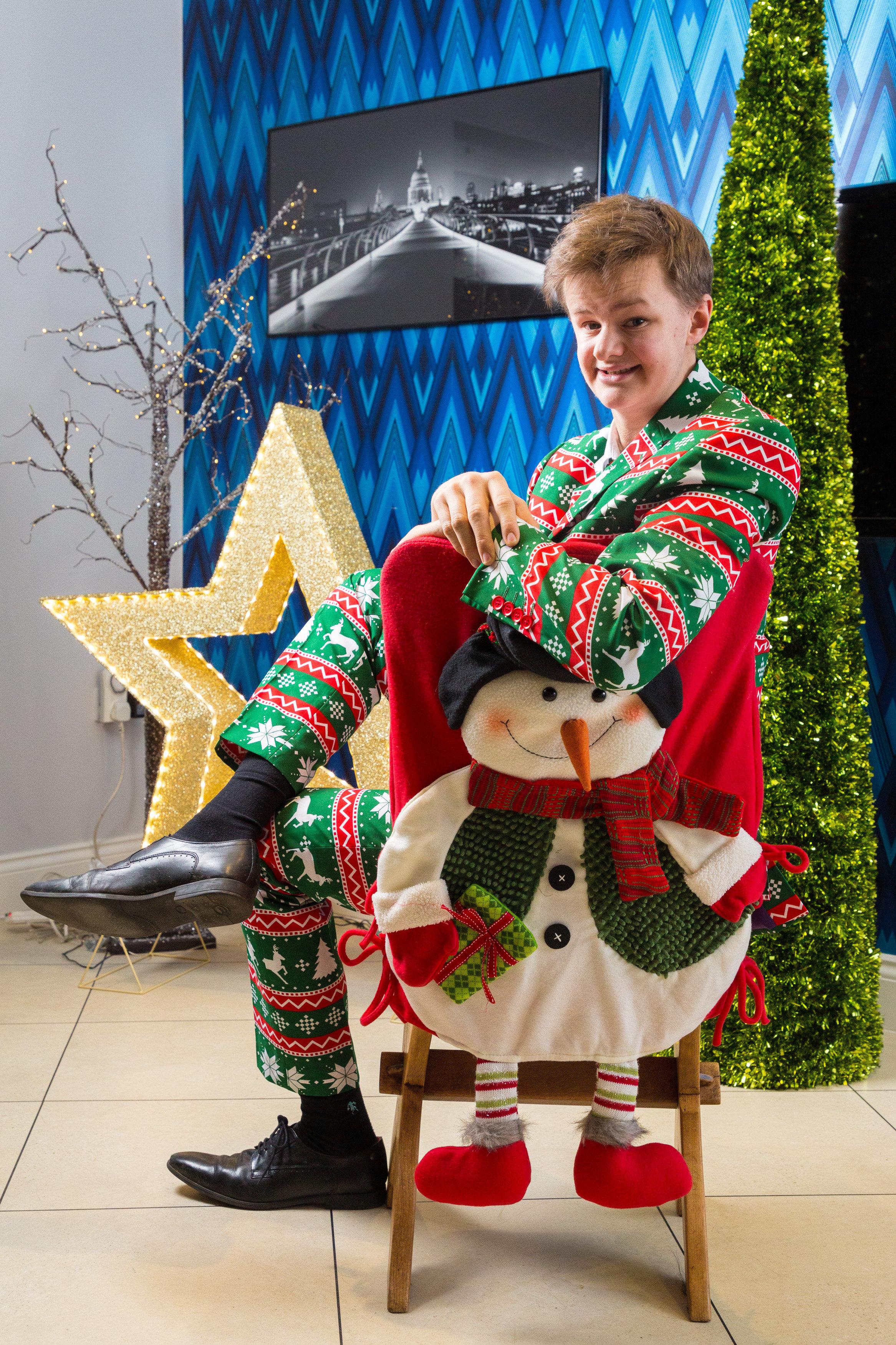 Christmas suit boy