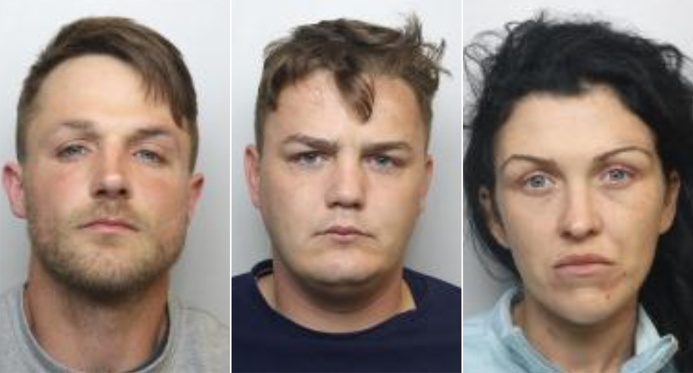 Kieran Marshall, John Kitchen, Jade Brannan. (West Yorkshire Police)