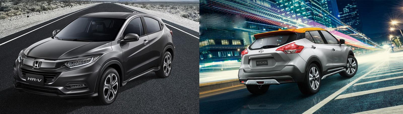 圖/Honda HR-V(NEW) 1.8 S與Nissan Kicks 1.5智行旗艦版風格休旅瑜亮之爭。