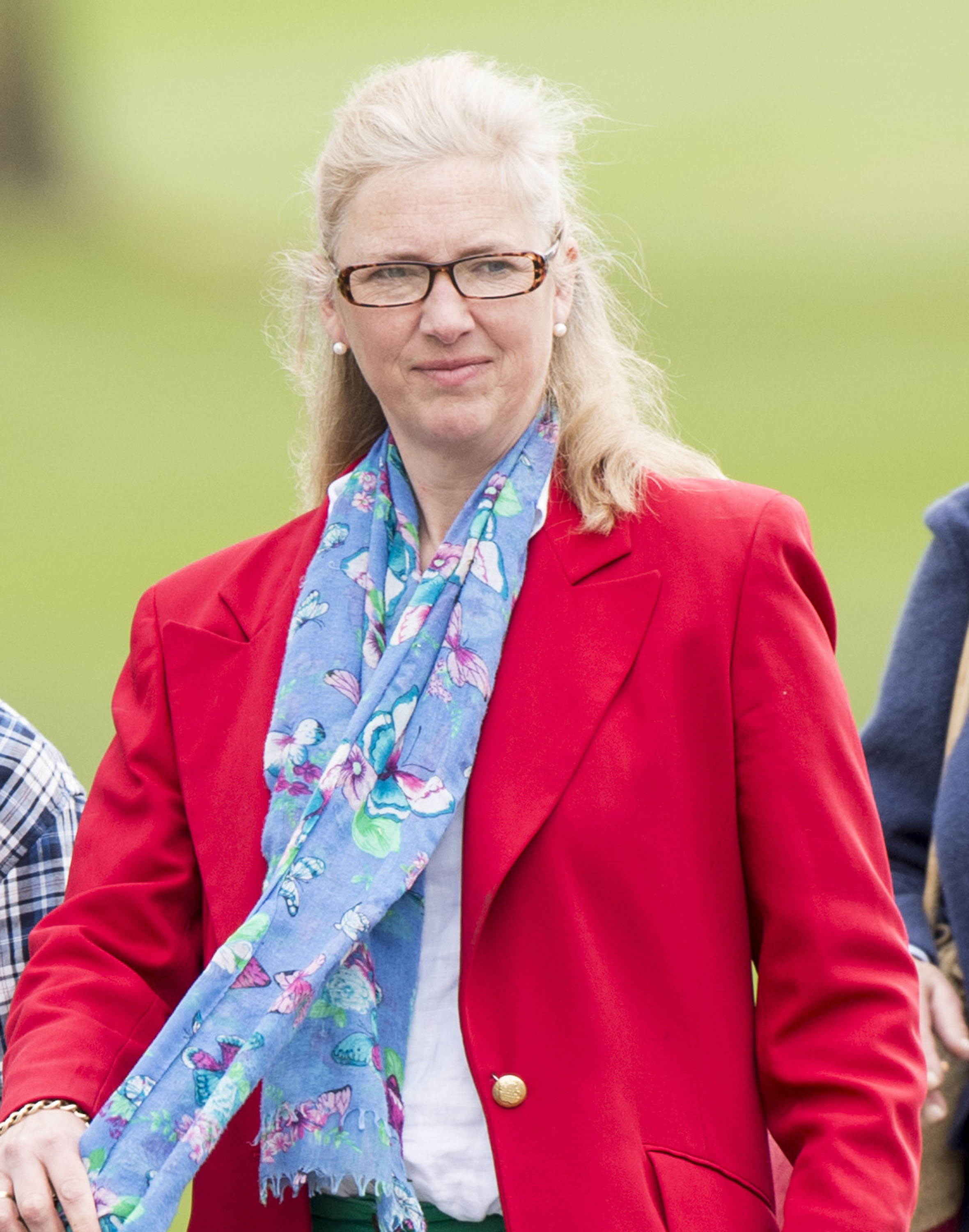 Tiggy Pettifer was seen in Windsor on the day of the christening last July [Image: Getty]