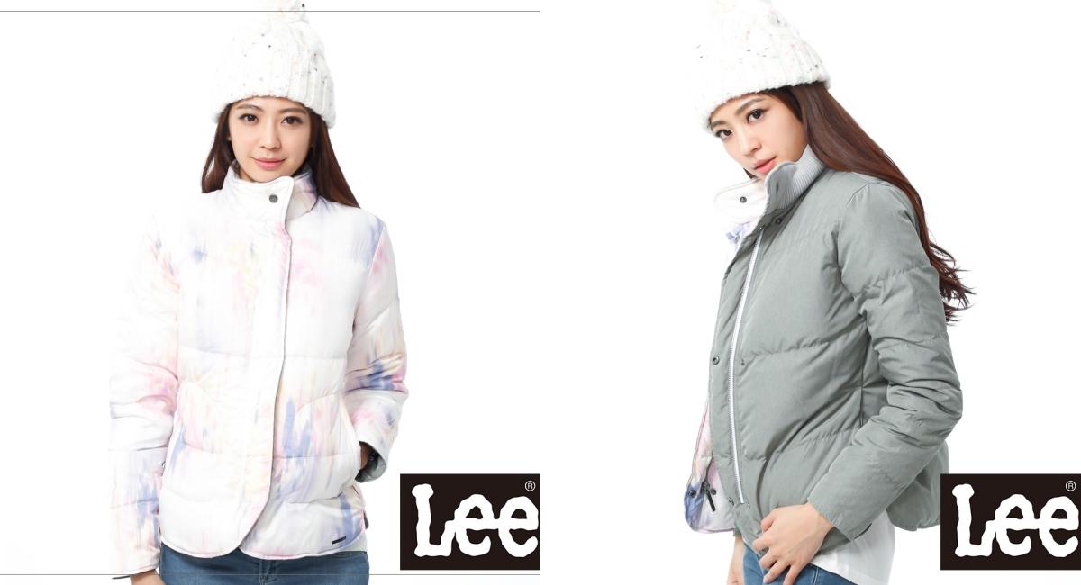 街頭休閒品牌Lee推出這款雙面穿羽絨外套,時尚的水彩潑墨設計非常特別