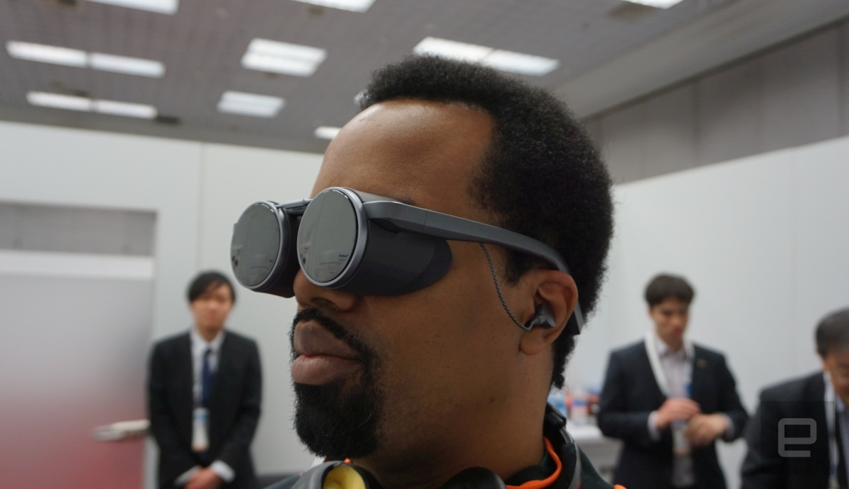 Panasonic VR glasses @ CES 2020