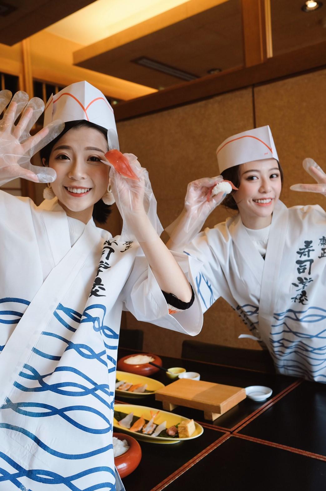 ▲捏壽司初體驗,紀卜心對壽司學校印象深刻。