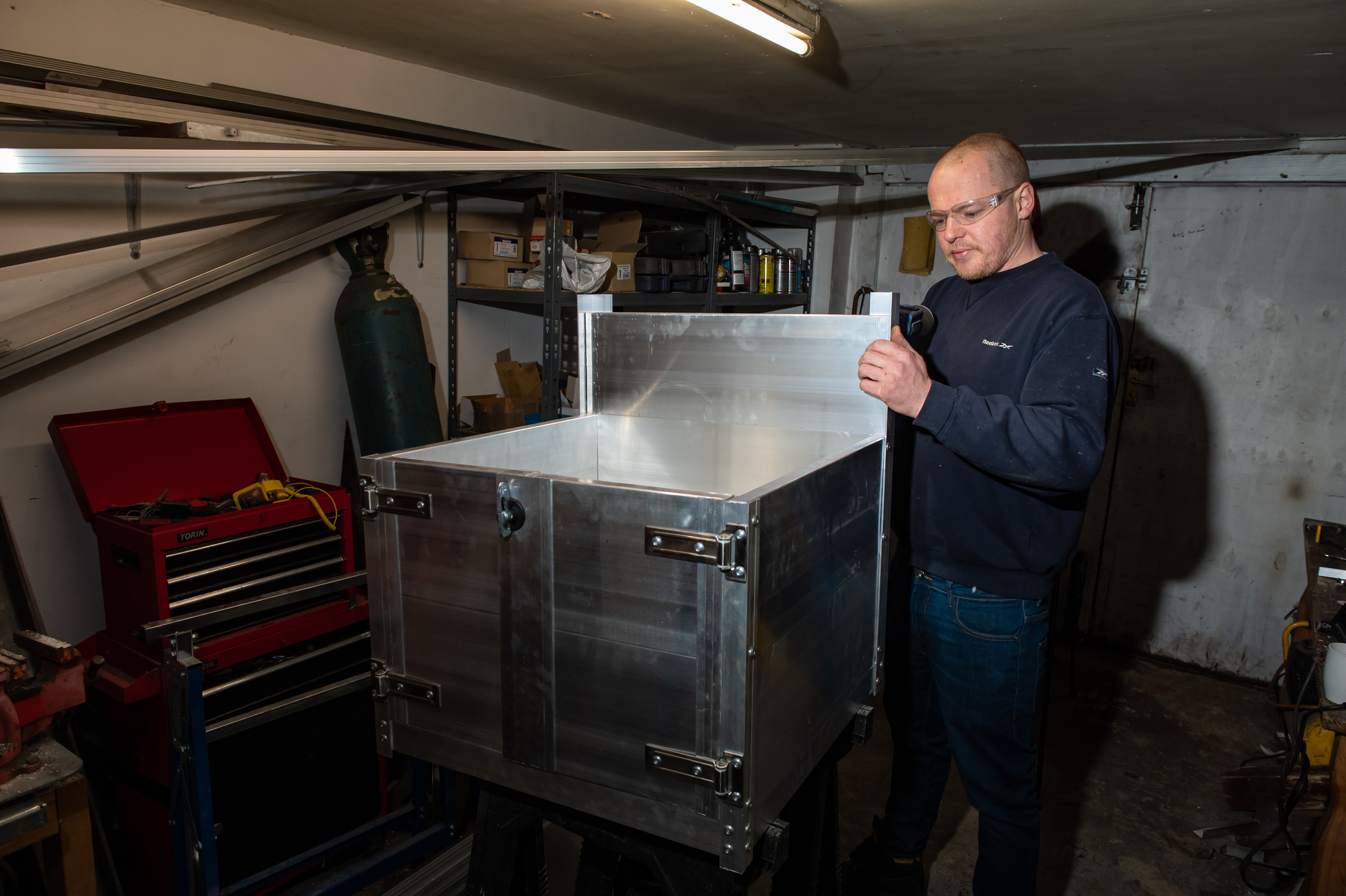 Buckler, 40, spent 12 hours over two days constructing the £600 replica of a Mercedes Actros HGV in his garage in the West Midlands for his nephew. (SWNS)