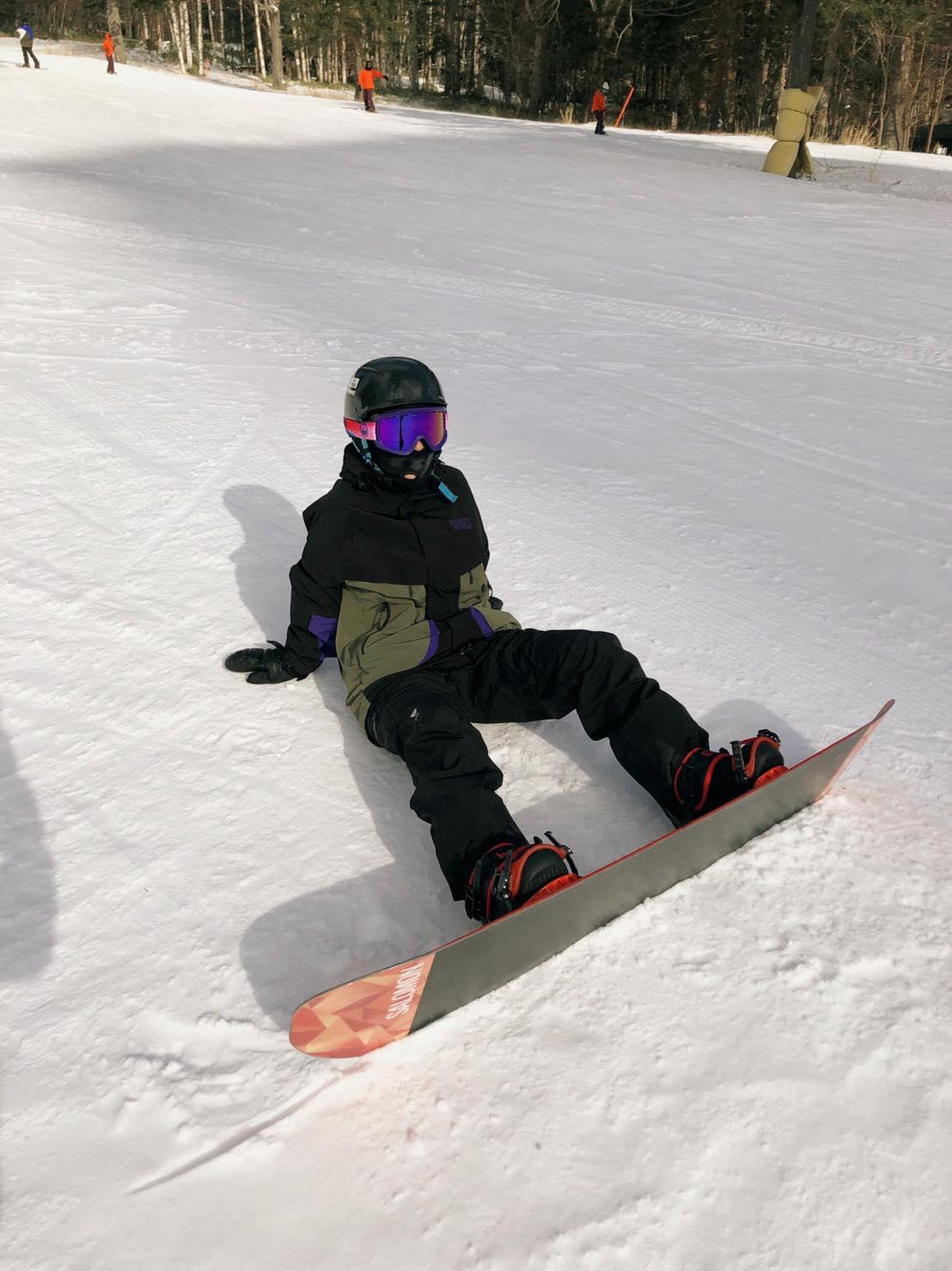 ▲睽違十年後再次滑雪,讓李維維練了好久才找回滑雪感覺。