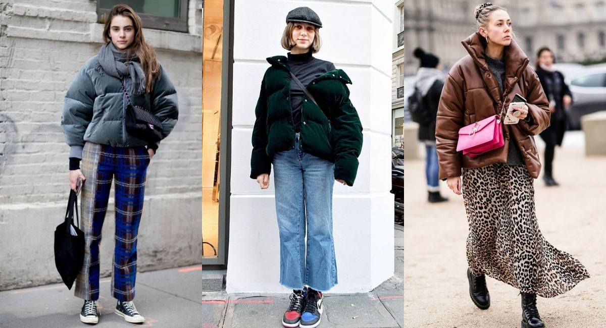 不妨選擇一件特殊材質的羽絨服,例如天鵝絨、燈芯絨、皮質等異素材設計