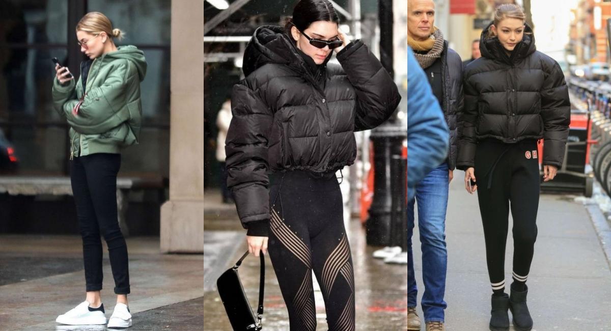 可以選擇具有設計感的泡芙(puffy jacket)羽絨衣,歐美女星們都在穿