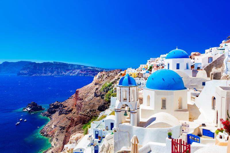圖/希臘-藍頂教堂