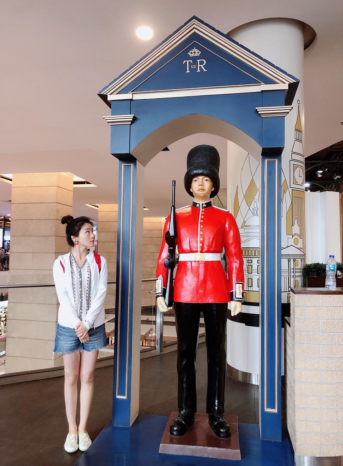 ▲Terminal 21百貨公司其中一層英國主題的樓層,讓楊小黎特別喜歡。