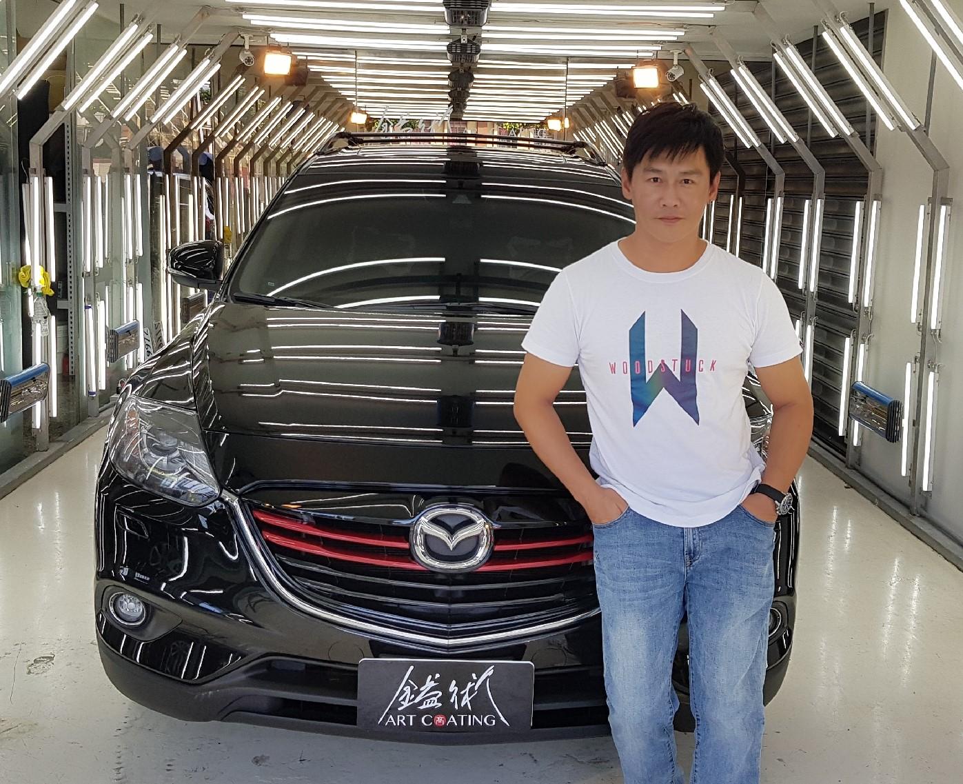 ▲2016年購入的Mazda CX-9,外型佳、空間大、動力足,深受沈世朋的喜愛。