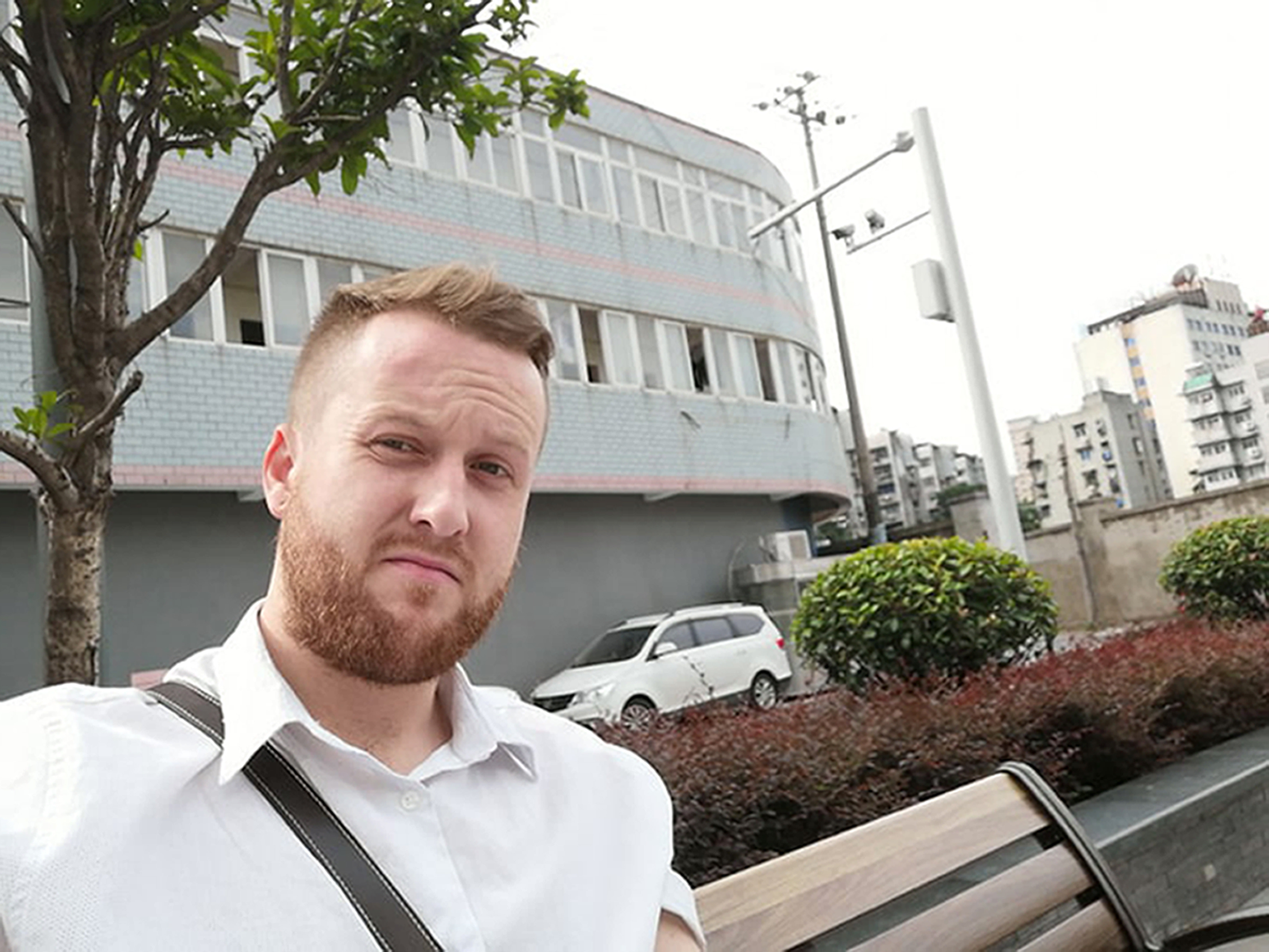 Chris Raymond, a teacher from Reading, is unable to return to Wuhan, where he's been living for three years, following the outbreak of coronavirus (Picture: PA)