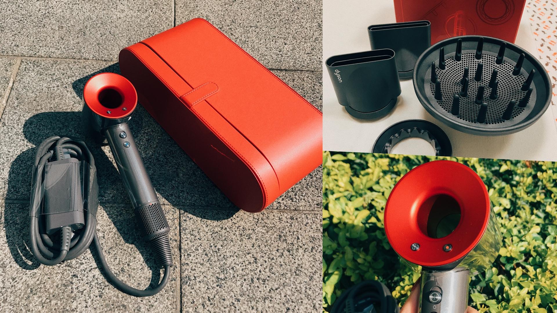 過年就是要紅色才喜氣!Dyson吹風機換上新年限定的紅色包裝不收不行啊!