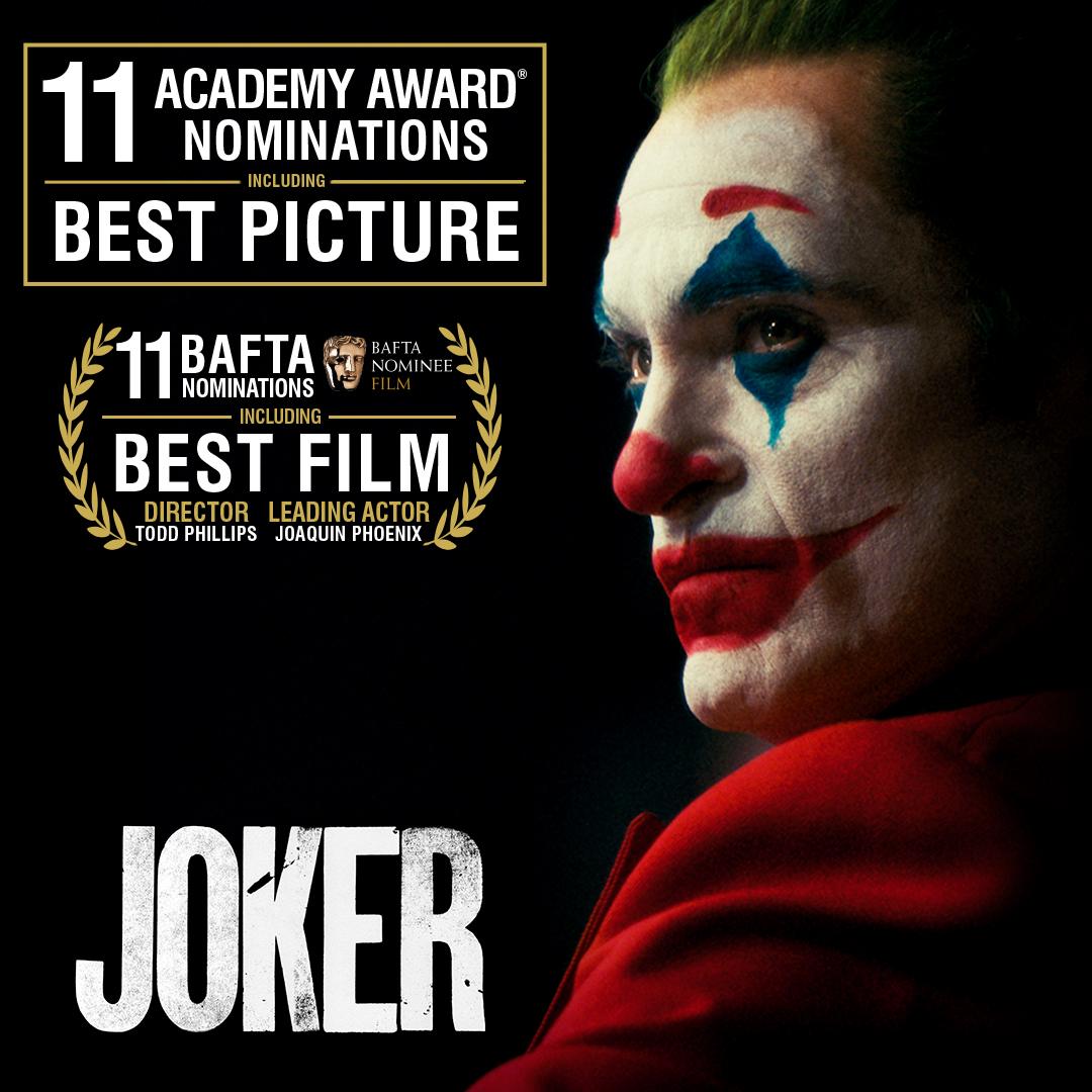 《小丑》入圍最大贏家本屆奧斯卡11項