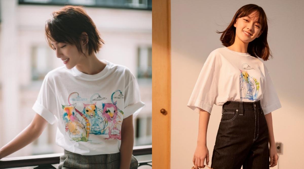 女星劉詩詩、張嘉倪與文淇已不約而同搶先穿戴Chloé 鼠年限量系列商品亮相
