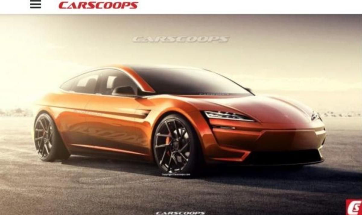 外媒釋出新一代 Tesla Model S 的外觀預想圖。