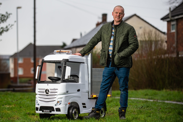 Buckler now plans to make the small battery-operated vehicles full-time after being inundated with orders. (SWNS)