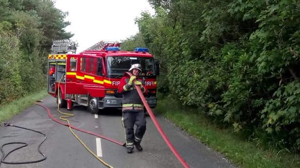 Martin serving as a firefighter.