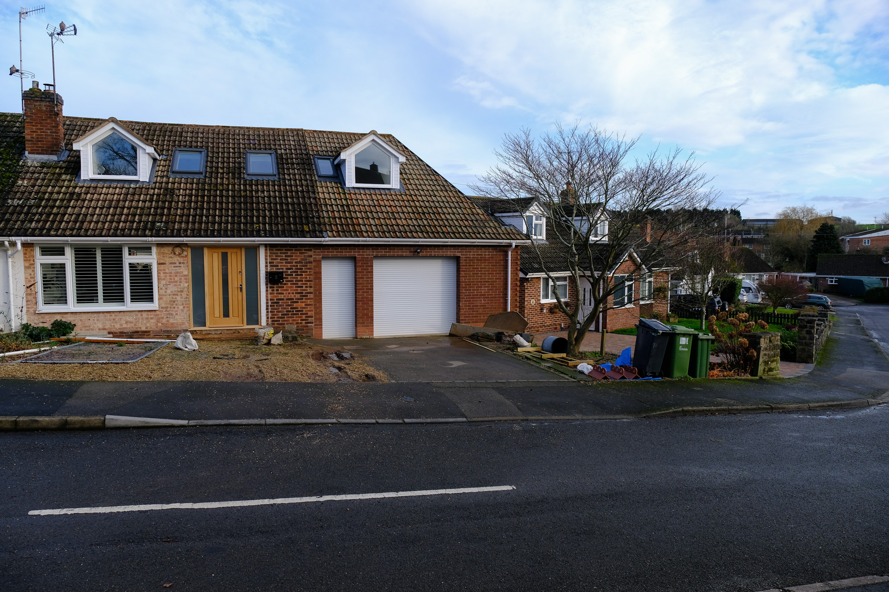 A general view of the home of Mr and Mrs Hyam in Cubbington Warwickshire, which councillors say will have to have it's newly built extension roof re-built due to it being 5 inches too high. (SWNS)