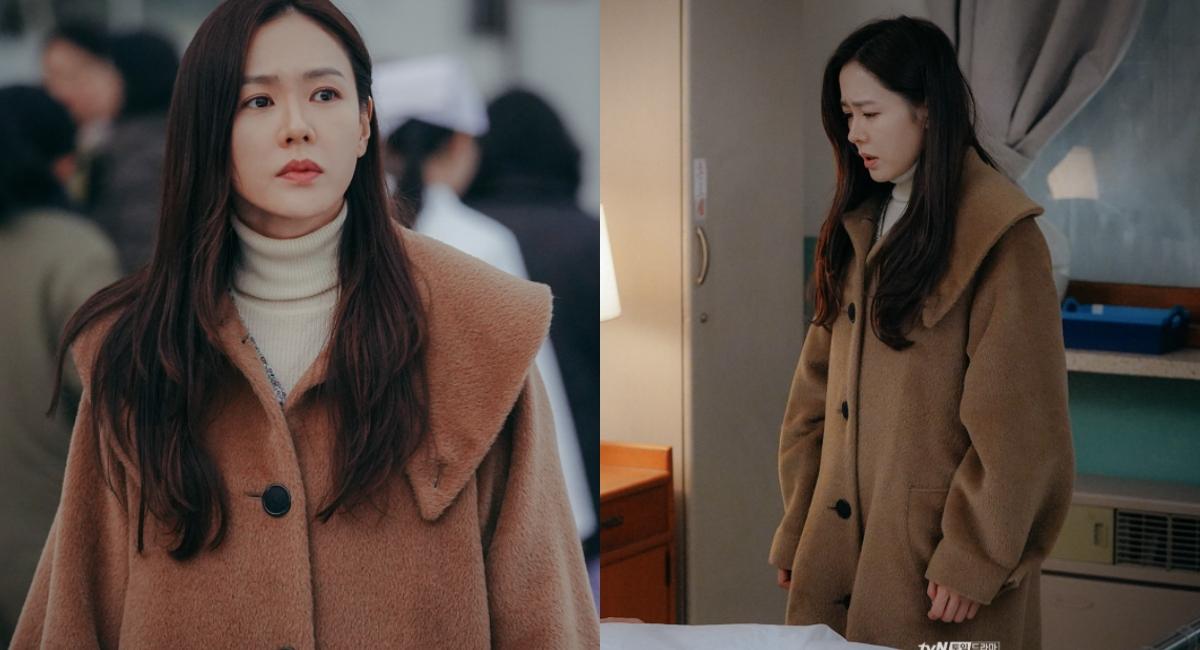 深冬少不了一件保暖的毛料大衣,孫藝珍穿著的這件駝色大衣來自Vivienne Westwood