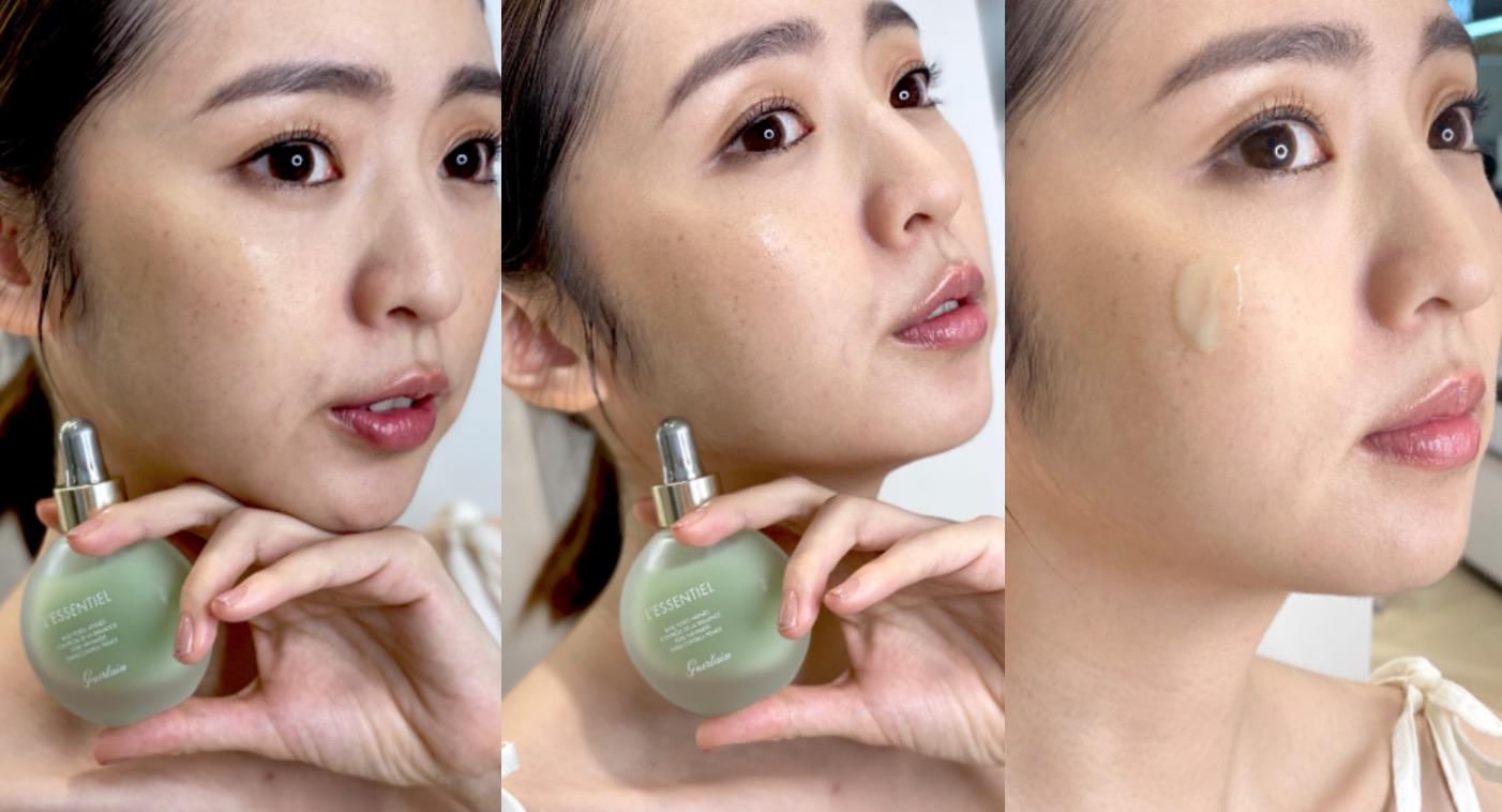 「極致毛孔神隱妝前凝露」(小酪梨)可創造出美麗的膚質、加強肌膚防禦力,質地柔滑同時創造霧面底肌