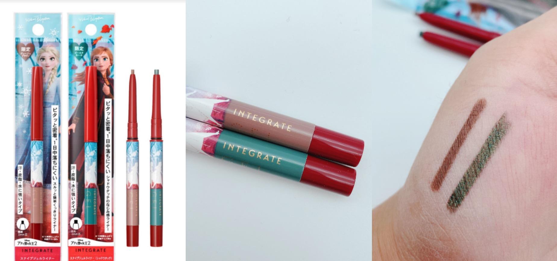 包括2mm極細筆芯的#BR艾莎灰棕與3mm份量感滑順筆芯的#GR安娜墨綠,可隨妝感選擇不同粗細、色系的筆芯。