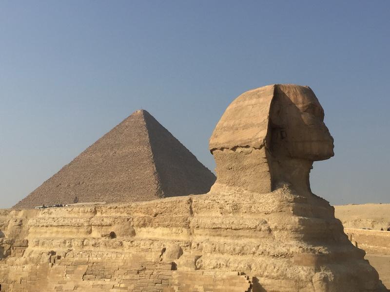 圖/埃及-金字塔+人面獅身像