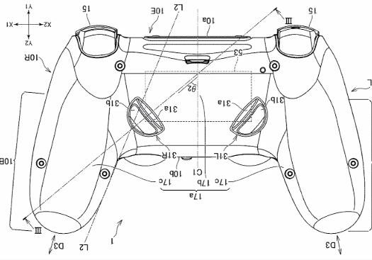 PS5 控制器專利圖樣