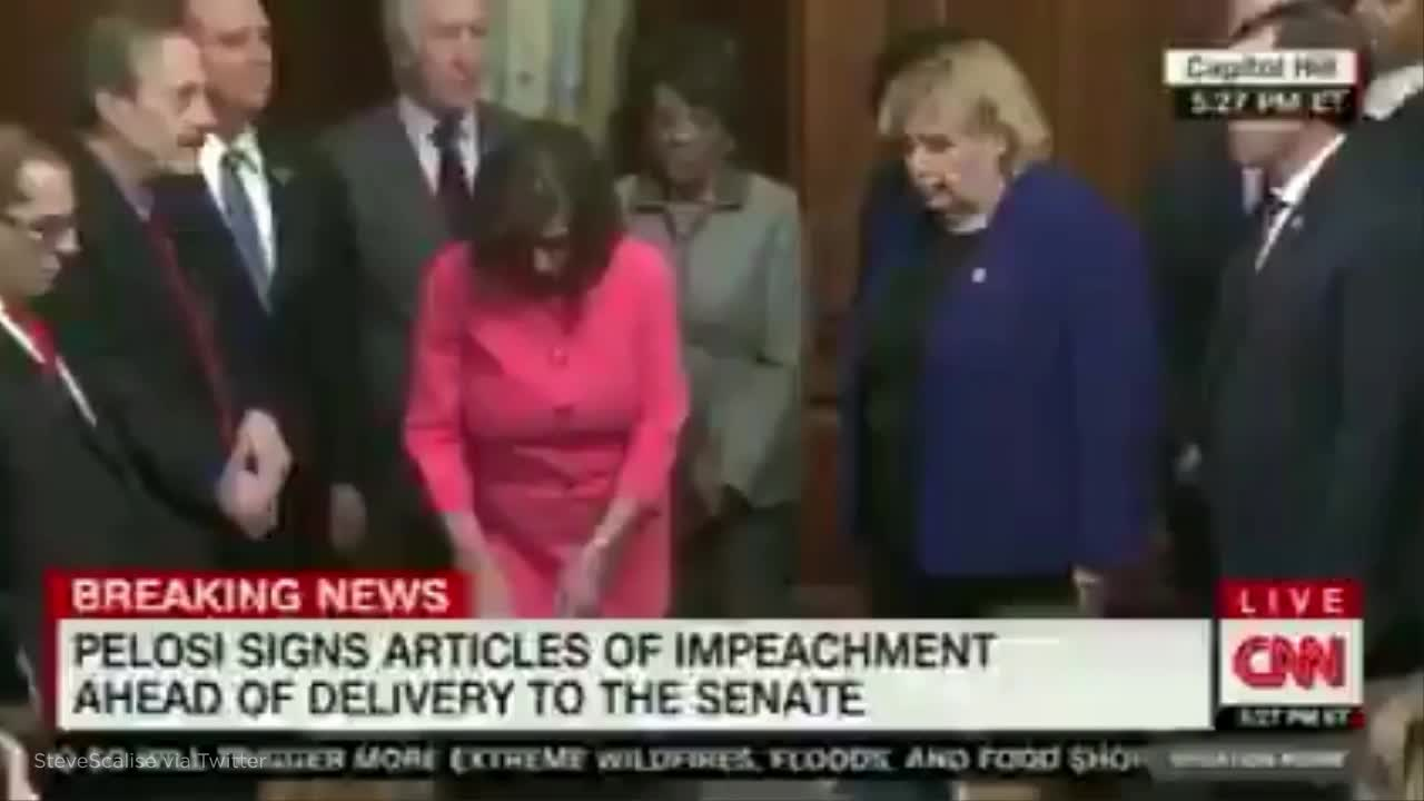 Pelosi angers GOP by using 30 different personalized pens to sign Trumps sham impeachment articles