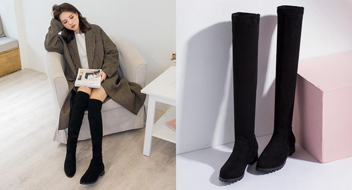 同樣是本季必買的靴款,過膝靴風潮強勢宣布回歸!
