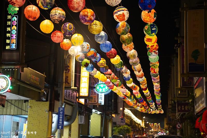 竹山鎮社區、學校加入彩繪燈籠的行列,整齊劃一的創意燈籠為寧靜的街區增添色彩與溫度。圖/網友投稿-Jason'S Life