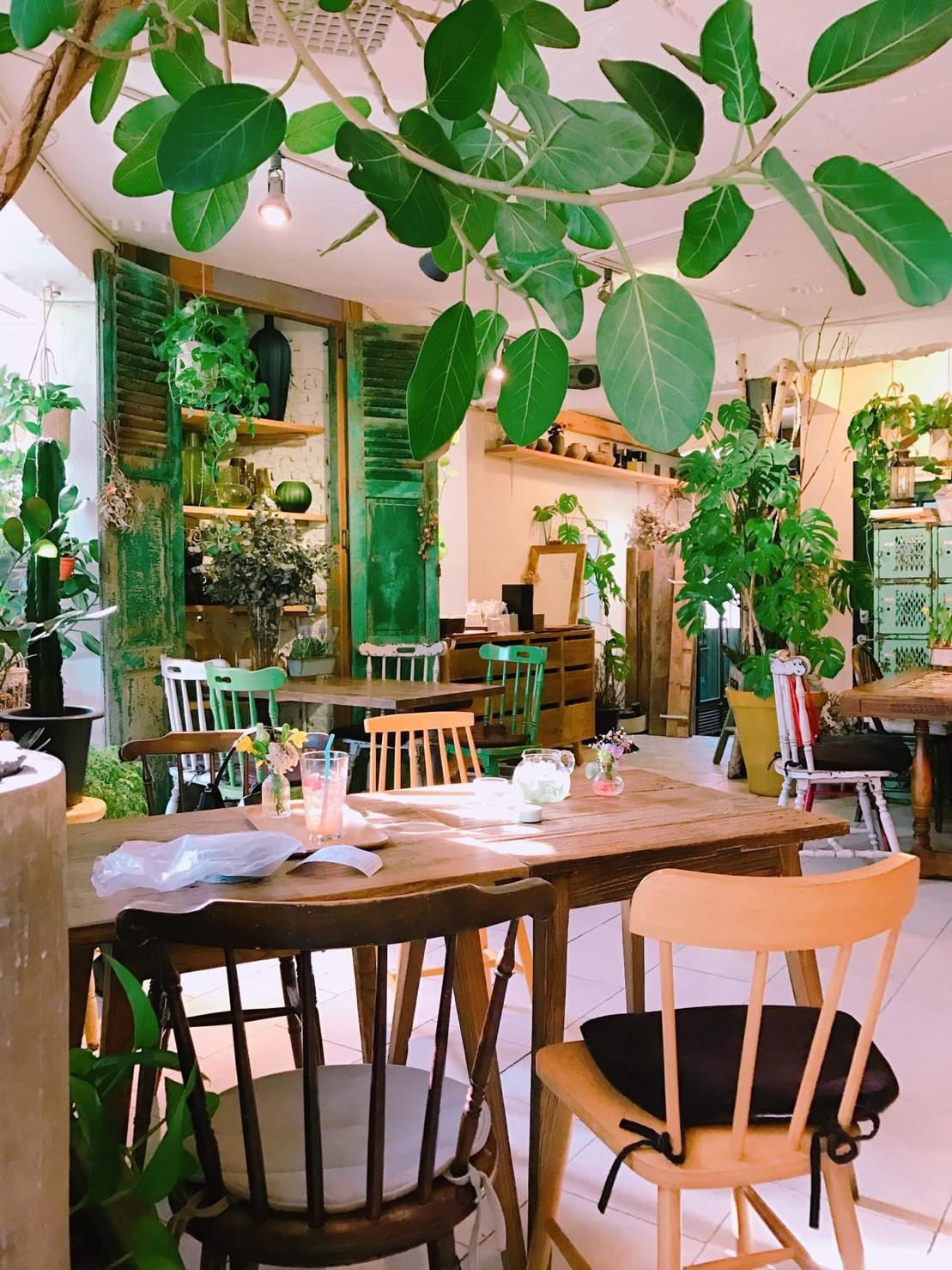 ▲瑤瑤時常去韓國的咖啡廳悠閒的喝咖啡。