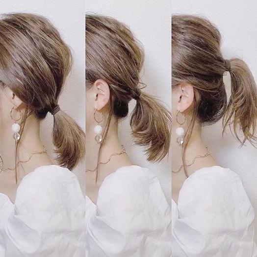馬尾髮型可以透過耳朵水平線為基準,簡單分為「高、中、低」三中款式