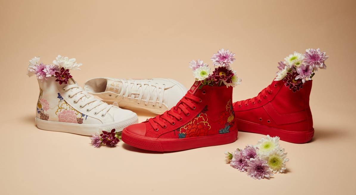 喜氣洋洋且貴氣十足的豔麗紅、以及風雅出眾的柔美白共2色
