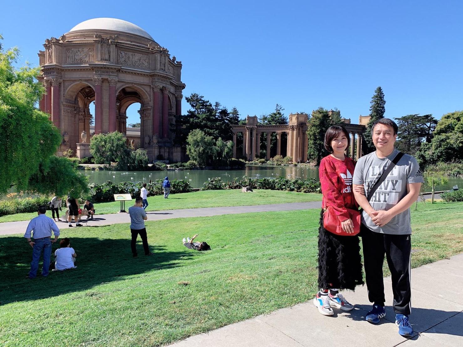▲這次是余皓然和王中平結婚多年後第一次去美國,心情相當興奮。