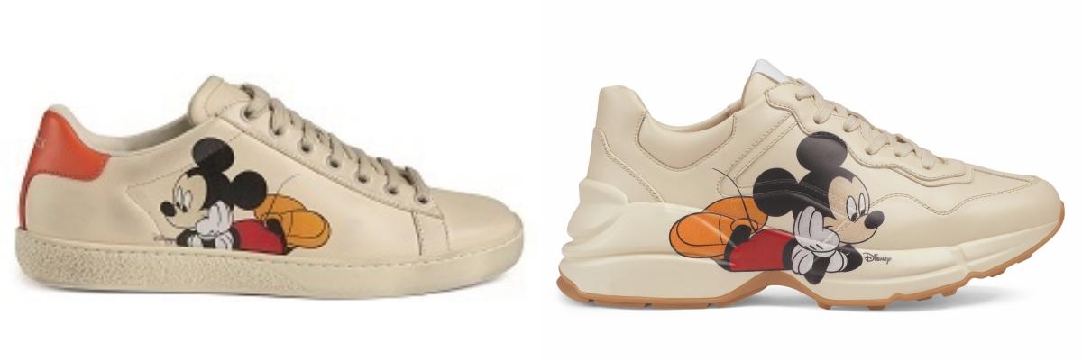 本系列女士鞋款包括一款新版Gucci Tennis 1977運動鞋