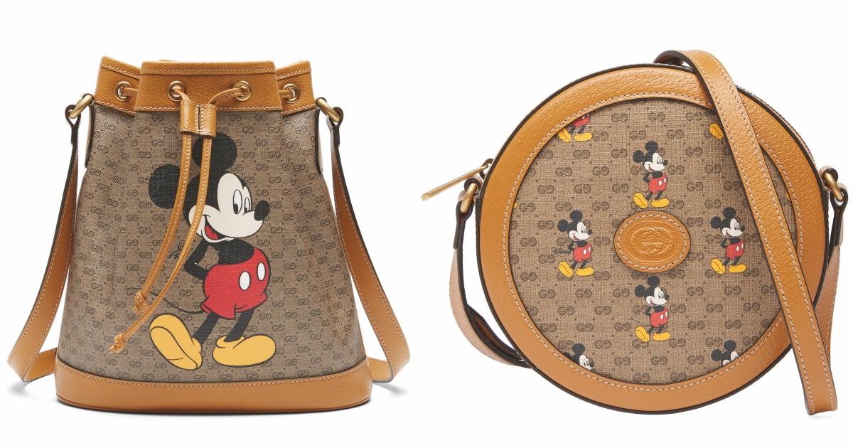 小型水桶包分為Mini GG Supreme帆布與平紋米黃色皮革兩個版本