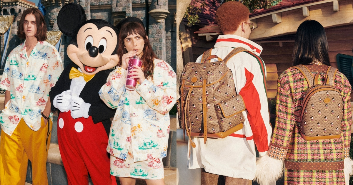 由此種帆布製成的單品均配有一枚棕色皮革標牌,代表Gucci X 迪士尼官方聯名認證