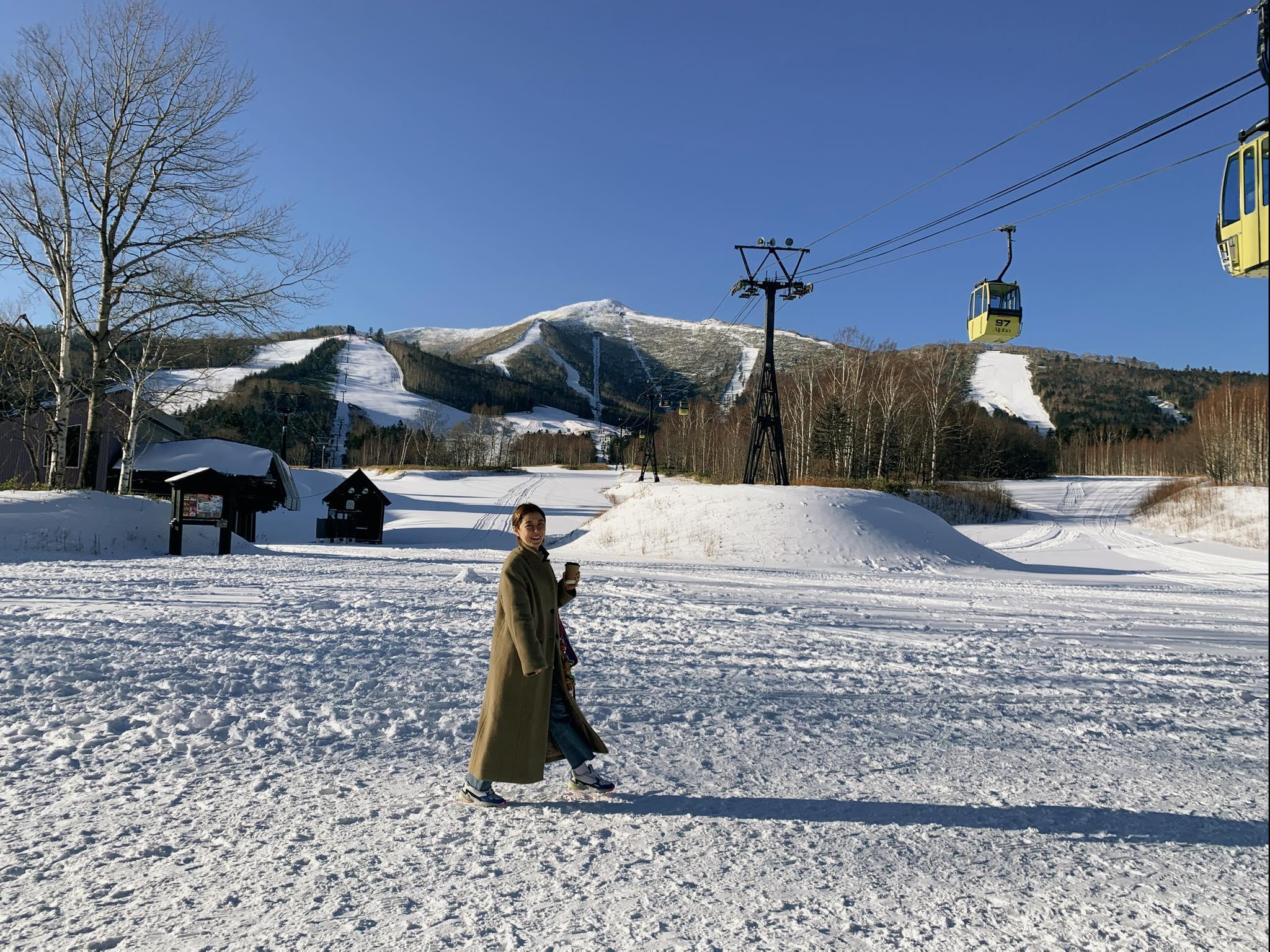▲李維維日前與友人去北海道展開六天五夜的旅遊。