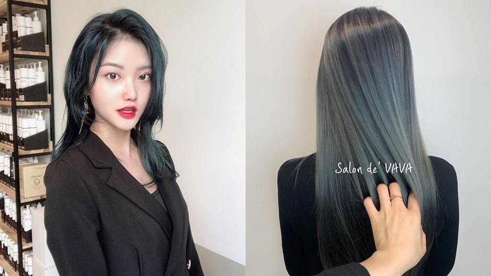 藍髮色在亞洲人身上更有一種神秘魅惑感