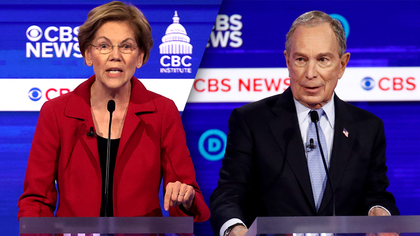 Warren accuses Bloomberg of pregnancy discrimination in jaw-dropping debate moment